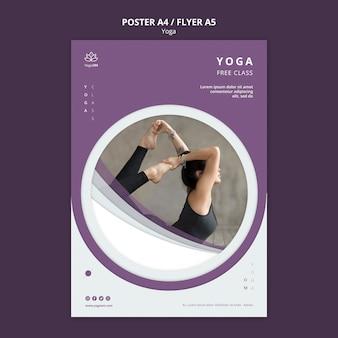 Plakatschablone mit yoga-konzept