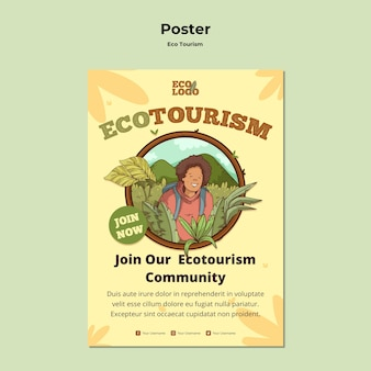 Plakatvorlage des ökotourismuskonzepts