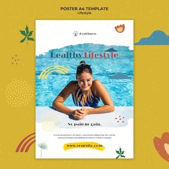Plakatvorlage für einen gesunden lebensstil