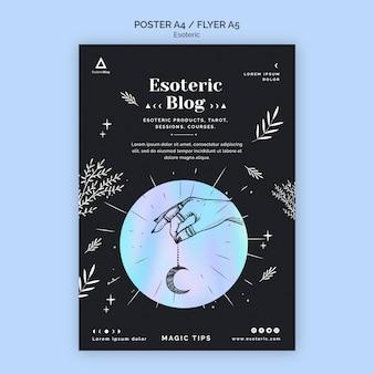 Plakatvorlage für esoterischen blog