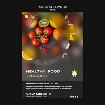 Plakatvorlage für gesunde ernährung food