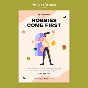 Plakatvorlage für hobbys und leidenschaften