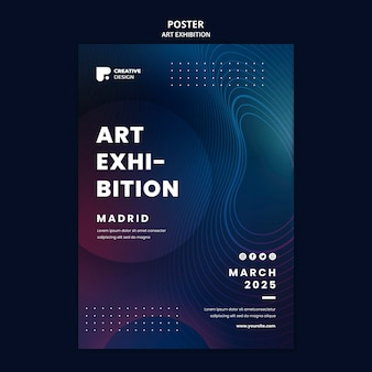 Plakatvorlage für kunstausstellungen