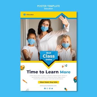 Plakatvorlage für lernkonzepte