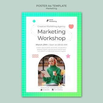 Plakatvorlage für marketingagenturen
