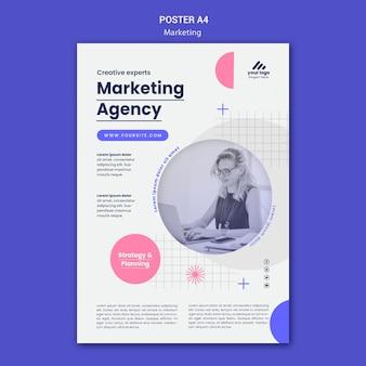 Plakatvorlage für marketingstrategien