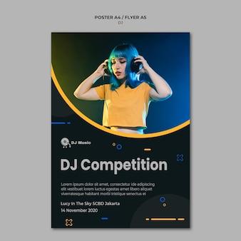 Plakatvorlage für musikfestival