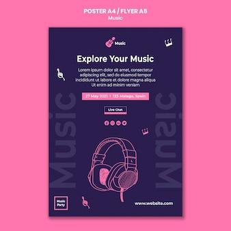 Plakatvorlage für musikparty