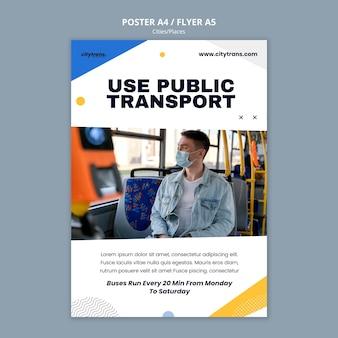 Plakatvorlage für öffentliche verkehrsmittel
