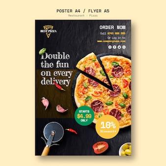 Plakatvorlage für pizzeria