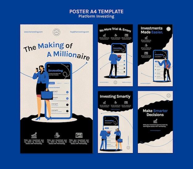 Plakatvorlage für plattforminvestition