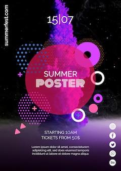 Plakatvorlage für sommerfestival