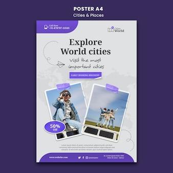 Plakatvorlage für städte und orte