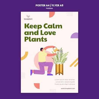 Plakatvorlage für wachsende pflanzen