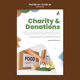 Plakatvorlage für wohltätigkeitsaktivitäten