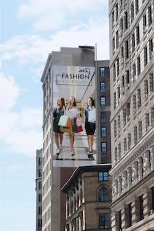 Plakatwand im stadtmodell
