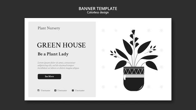 Plant baumschule banner vorlage