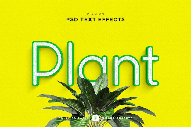Plant text effect mockup