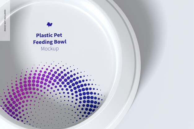 Plastik-haustier-fütterungs-schüssel-modell, draufsicht