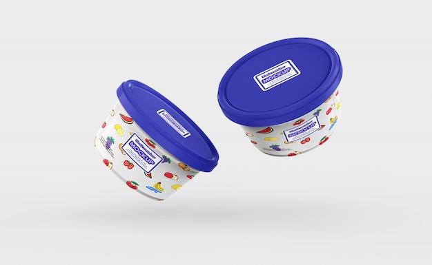 Plastik-lebensmittelbehältermodell
