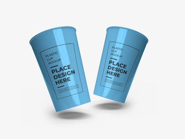 Plastikbecher-verpackungsmodell