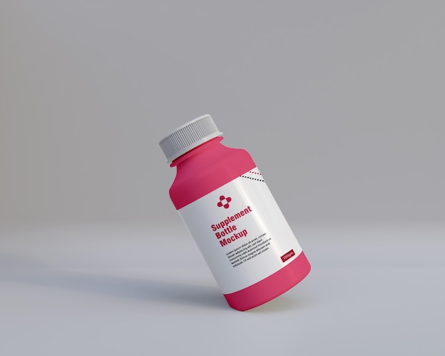 Plastikergänzung medizinflasche mockup 3d