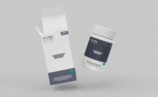Plastikflasche mit kastenmodell