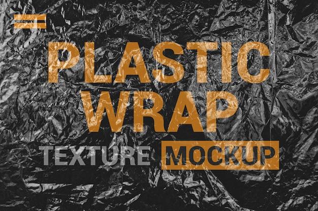 Plastikfolie mockup