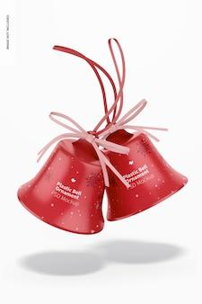 Plastikglocken ornament mockup, fallend