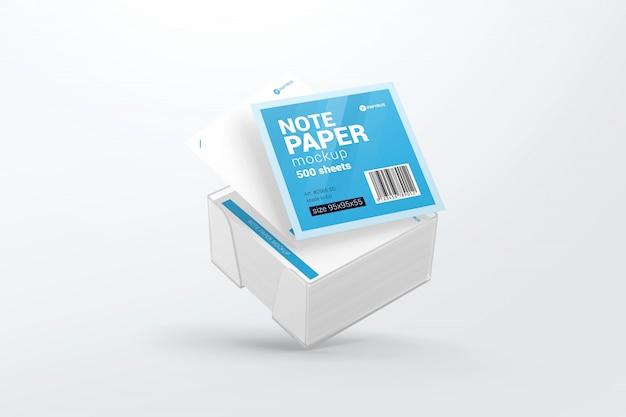 Plastikpapiermodell des fliegenden anmerkungspapierwürfels