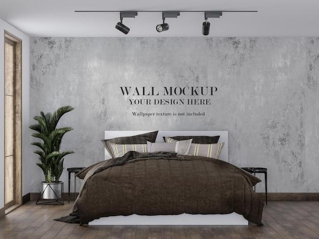 Platzieren sie ihr design an der wand im schlafzimmer