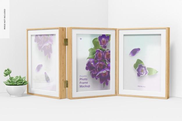 Plegable photo frame mockup