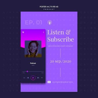 Podcast konzept flyer vorlage
