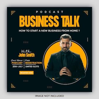 Podcast-quadrat-flyer-social-media-post-vorlagen