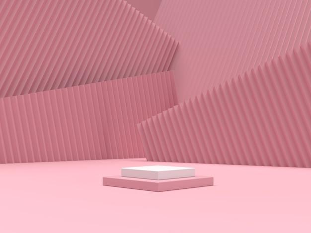 Podium der abstrakten szenengeometrieform für produktanzeige