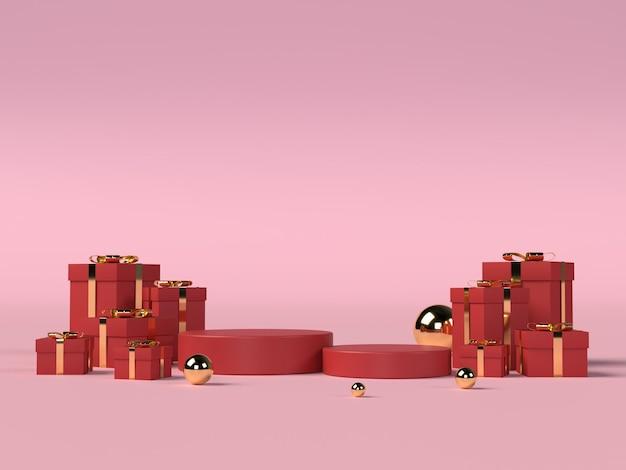 Podium für produktplatzierung zum valentinstag