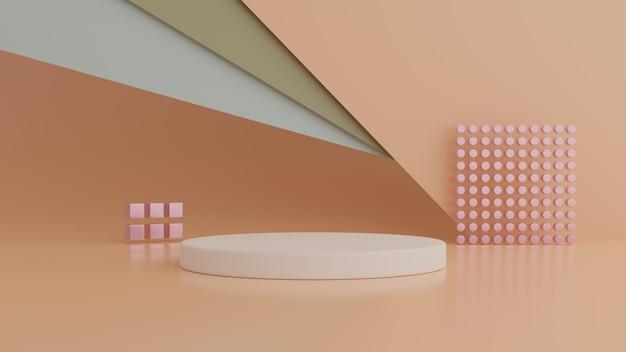 Podium hintergrund für produkt. minimales konzept. 3d-rendering