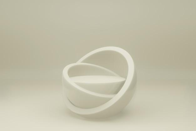Podium oder plattform in einem raum in minimalem design