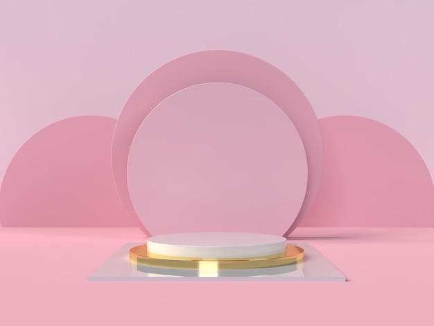 Podium produktpräsentation in 3d-rendering
