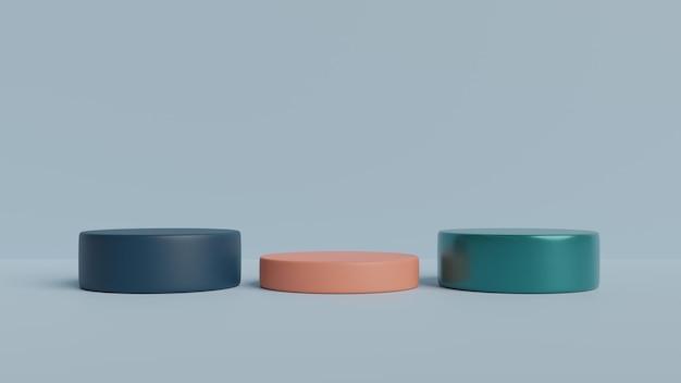 Podium-rendering der abstrakten szenengeometrieform