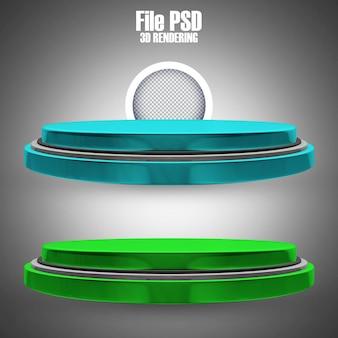Podium-symbol 3d render modern