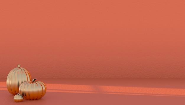 Podium und minimaler abstrakter hintergrund für halloween, 3d-rendering geometrische form. 3d-darstellung.
