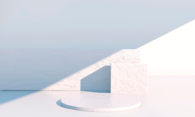 Podiumsdesign-präsentation in 3d-rendering
