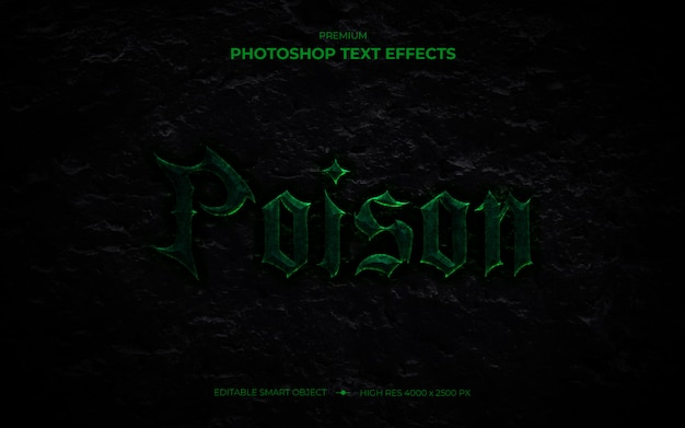 Poison text effect mockup