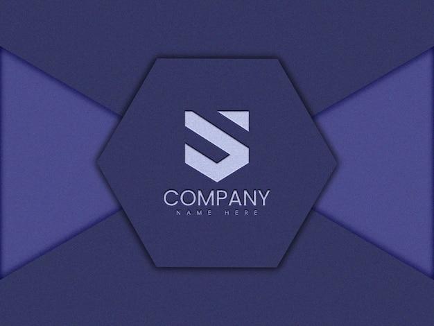 Polygon-logo-modellentwurf im 3d-rendering