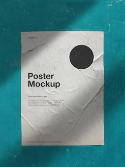 Pooster-modell an der wand mit textur