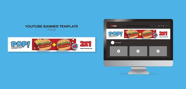 Pop-art-food-youtube-banner