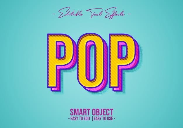 Pop-textstil-effekt