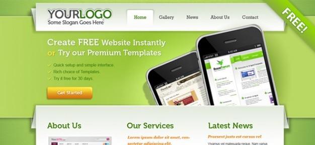 Portfolio psd website template