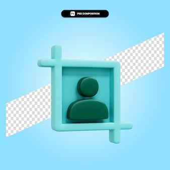 Porträt 3d-render-illustration isoliert